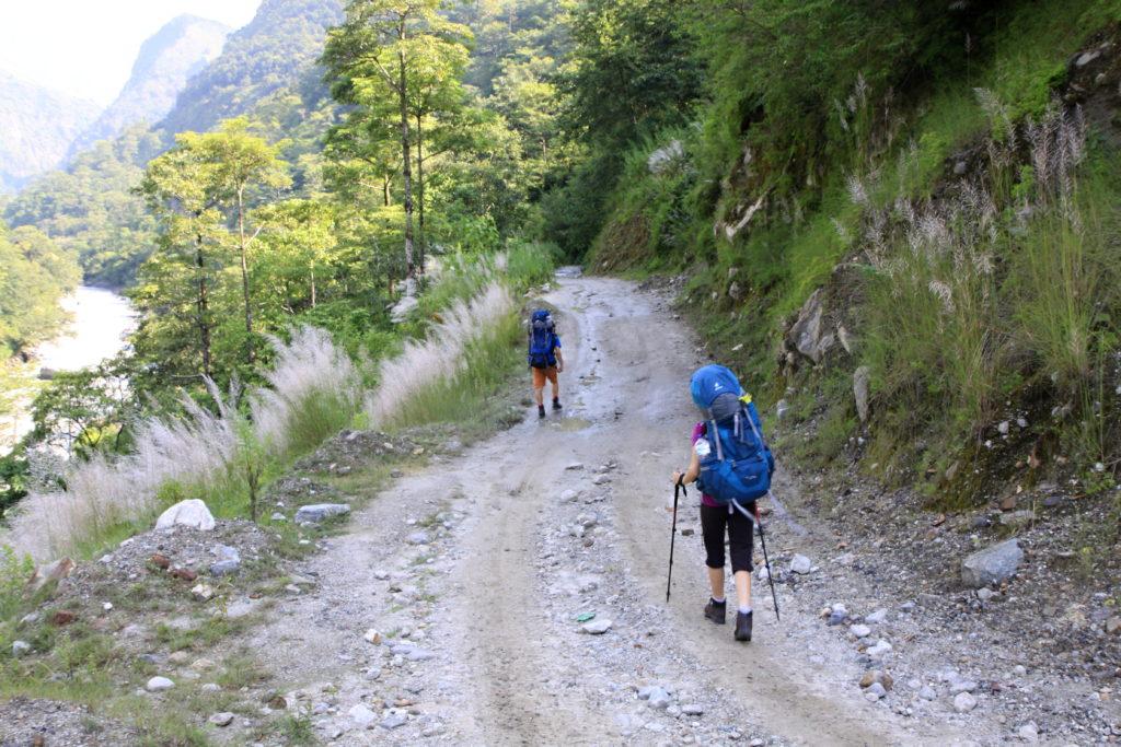 Prvních pár kilometrů treku