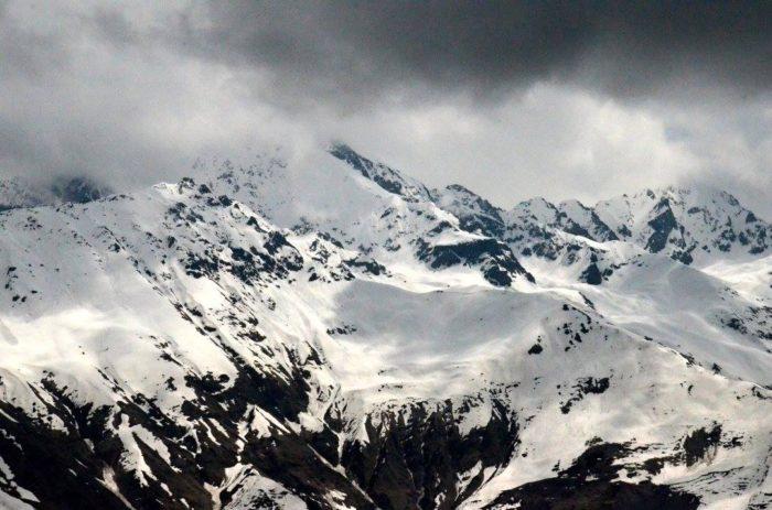 Výhledy cestou na ledovcová jezera Koruldi