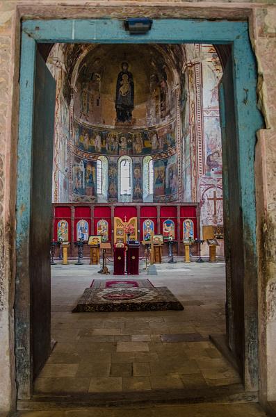 Některé malby uvnitř klášteru Galeti pocházejí až z 12. století