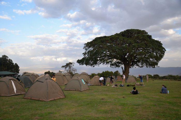Kemp Simba v národním parku Serengeti