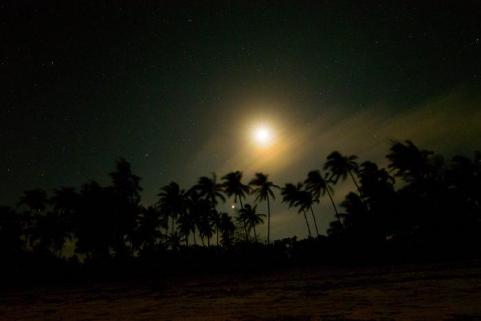 Matemwe beach v noci