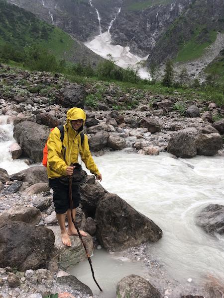 Jak jsme se snažili přebrodit potok Eisbach...