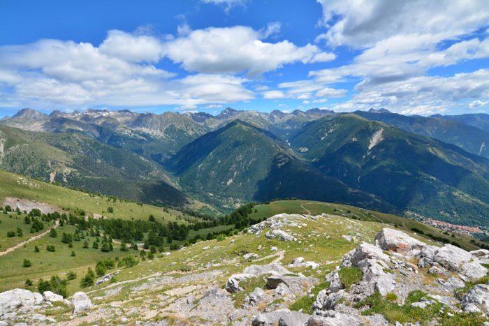 Výhled na NP Mercantour cestou na Baus de la Frema
