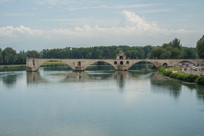 Avignonský most (Saint Bénezet) z roku 1355